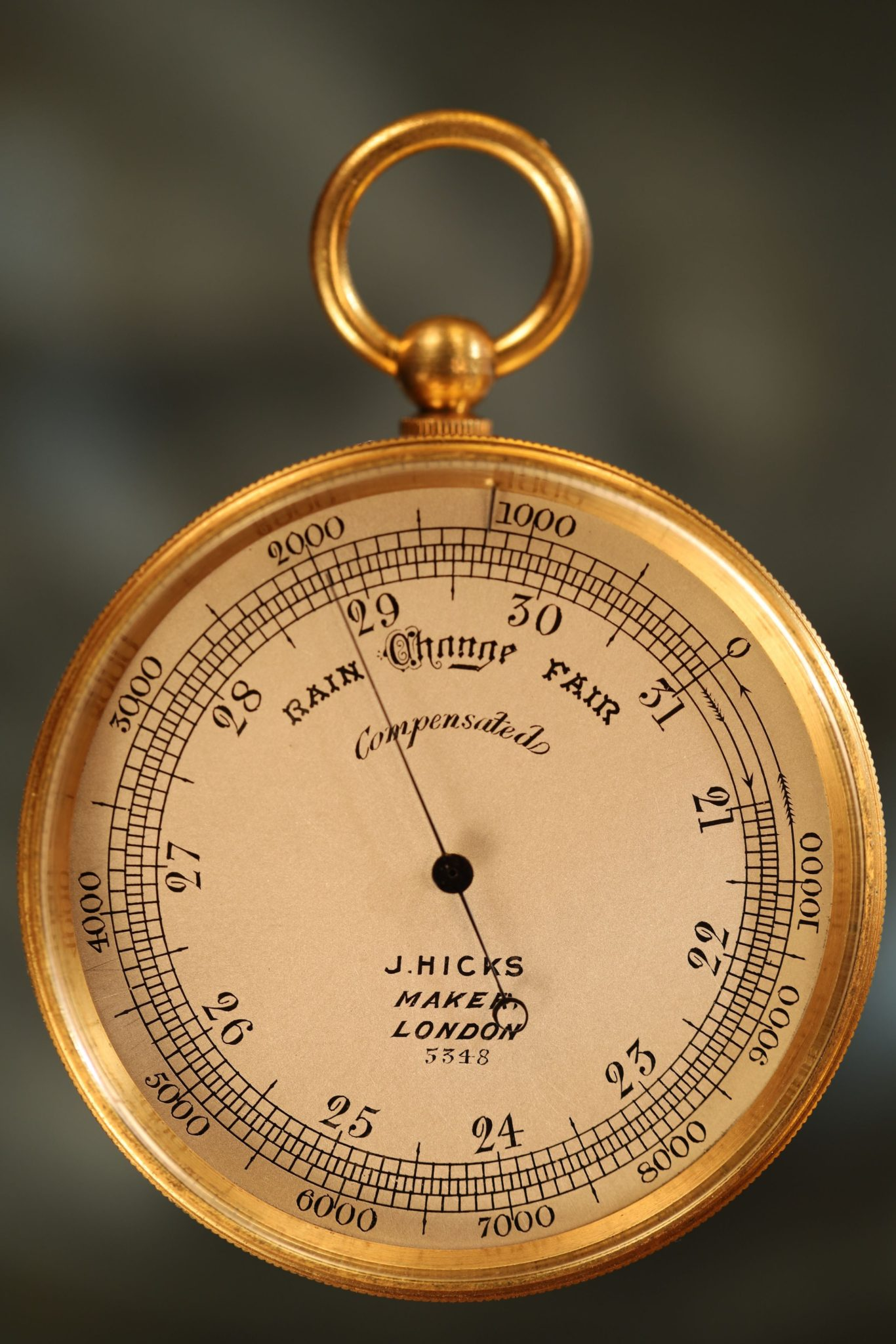Image of Pocket Barometer by Hicks No 5348