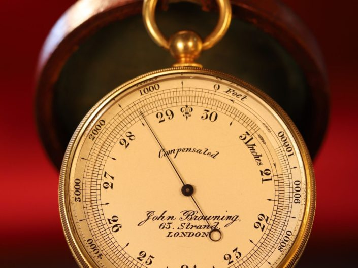 POCKET BAROMETER ALTIMETER BY BROWNING c1890 - Sold