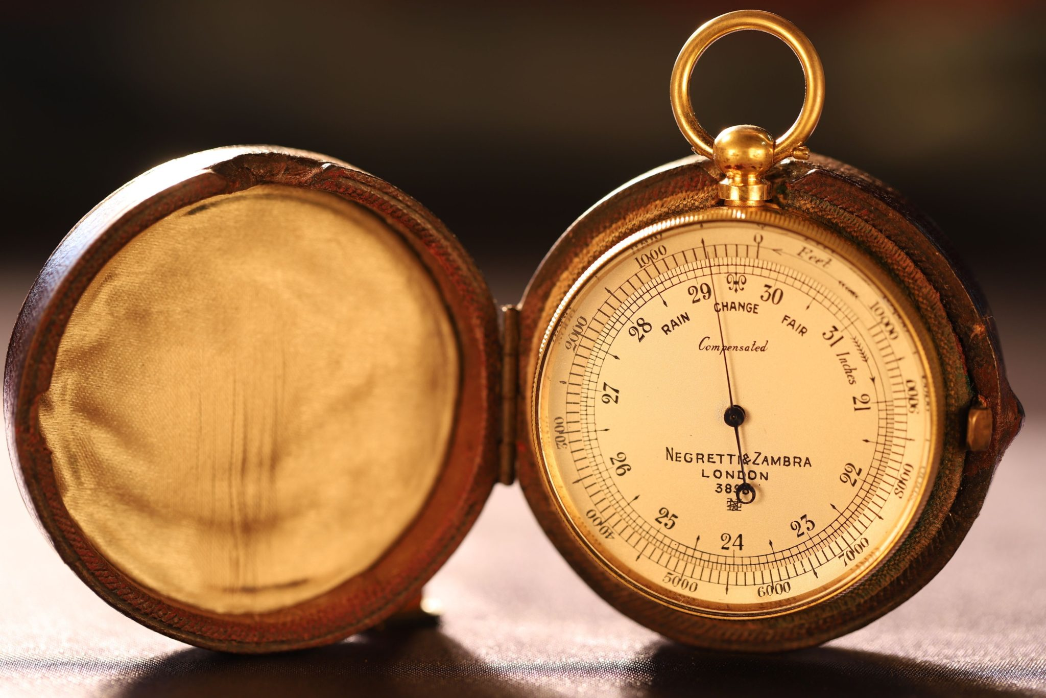Image of Negretti & Zambra Pocket Barometer No 3898
