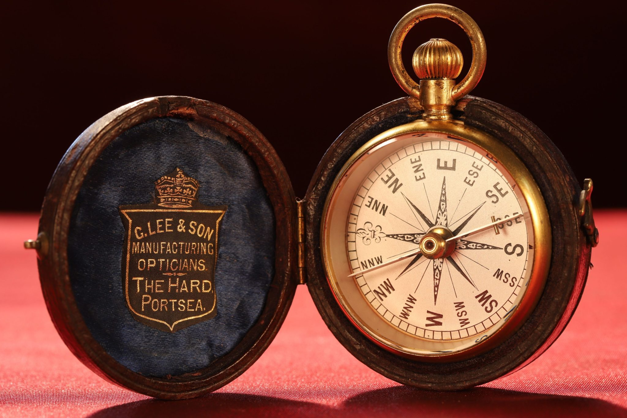 Image of Victorian Pocket Compass Retailed by Lee c1890