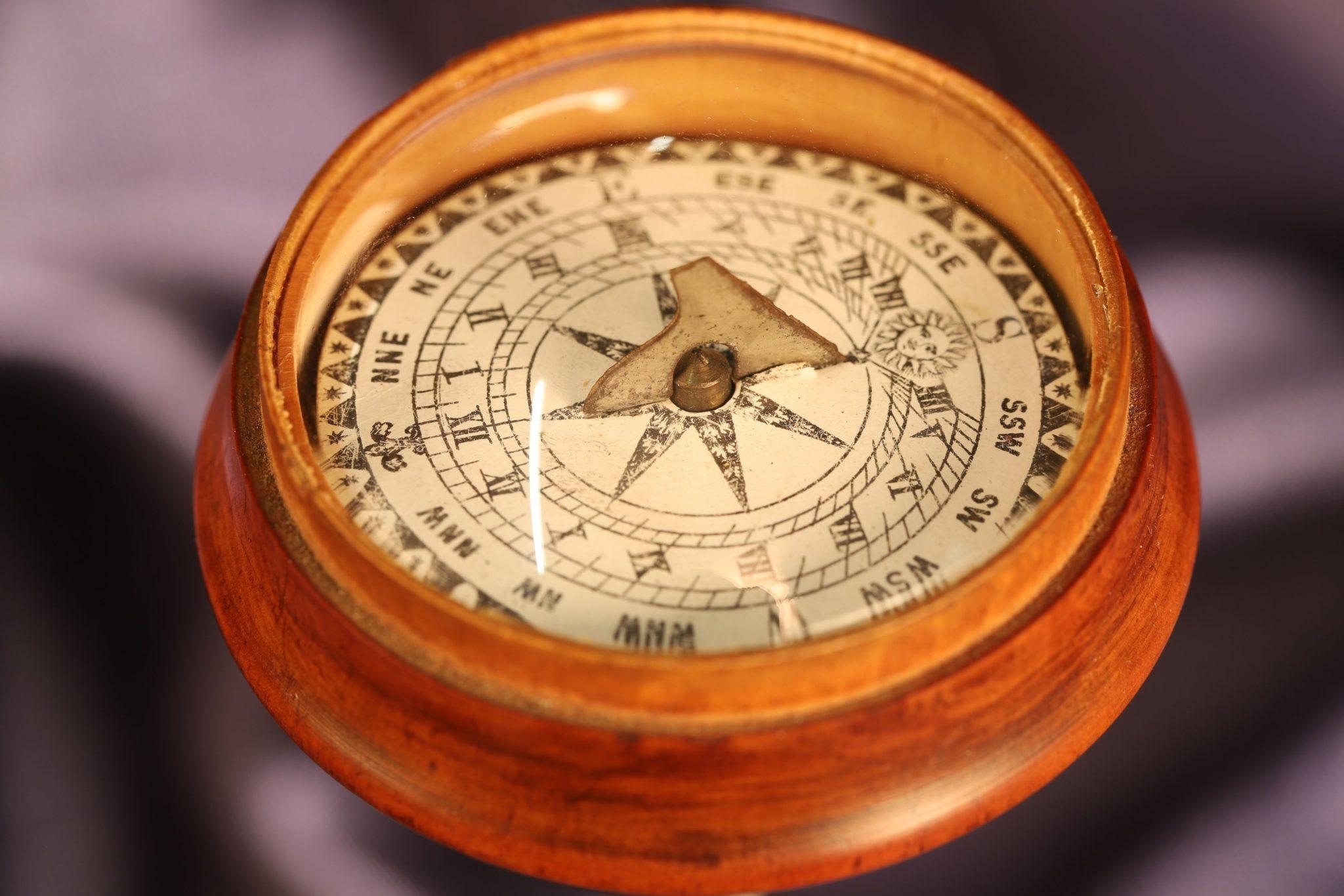 Image of Victorian Horizontal Magnetic Sundial c1850