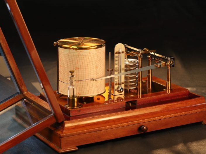 MAHOGANY CASED BAROGRAPH BY RICHARD FRERES No 387 c1900