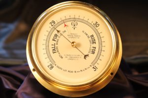 Image of Improved Marine Aneroid Barometer by Short & Mason c1930s