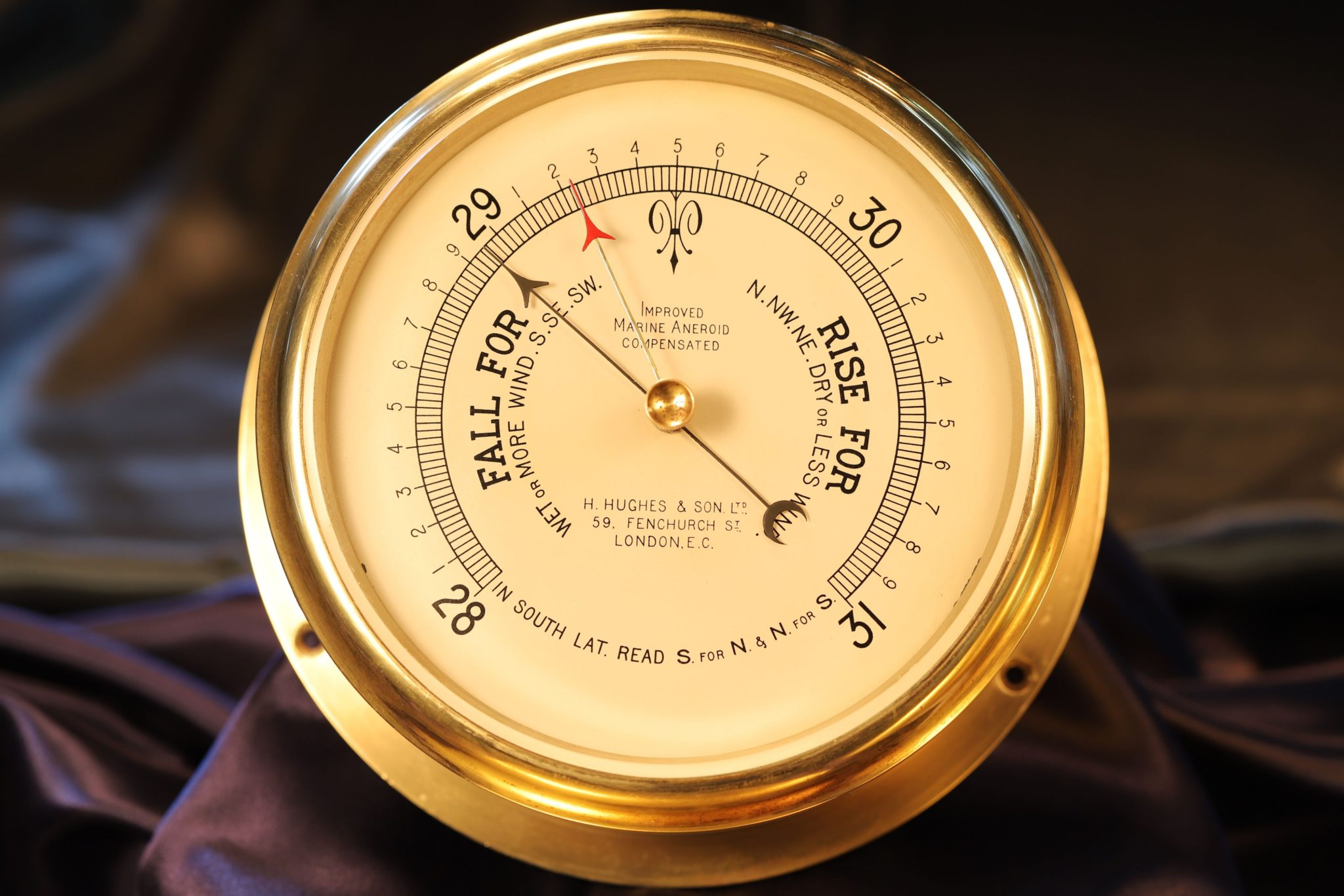 Image of Improved Marine Aneroid Barometer by Short & Mason c1935