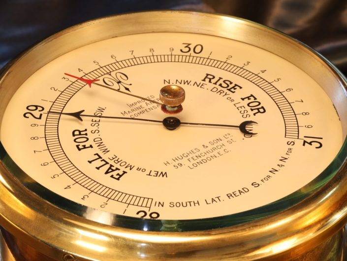 IMPROVED MARINE ANEROID BAROMETER BY SHORT & MASON c1935 - Sold