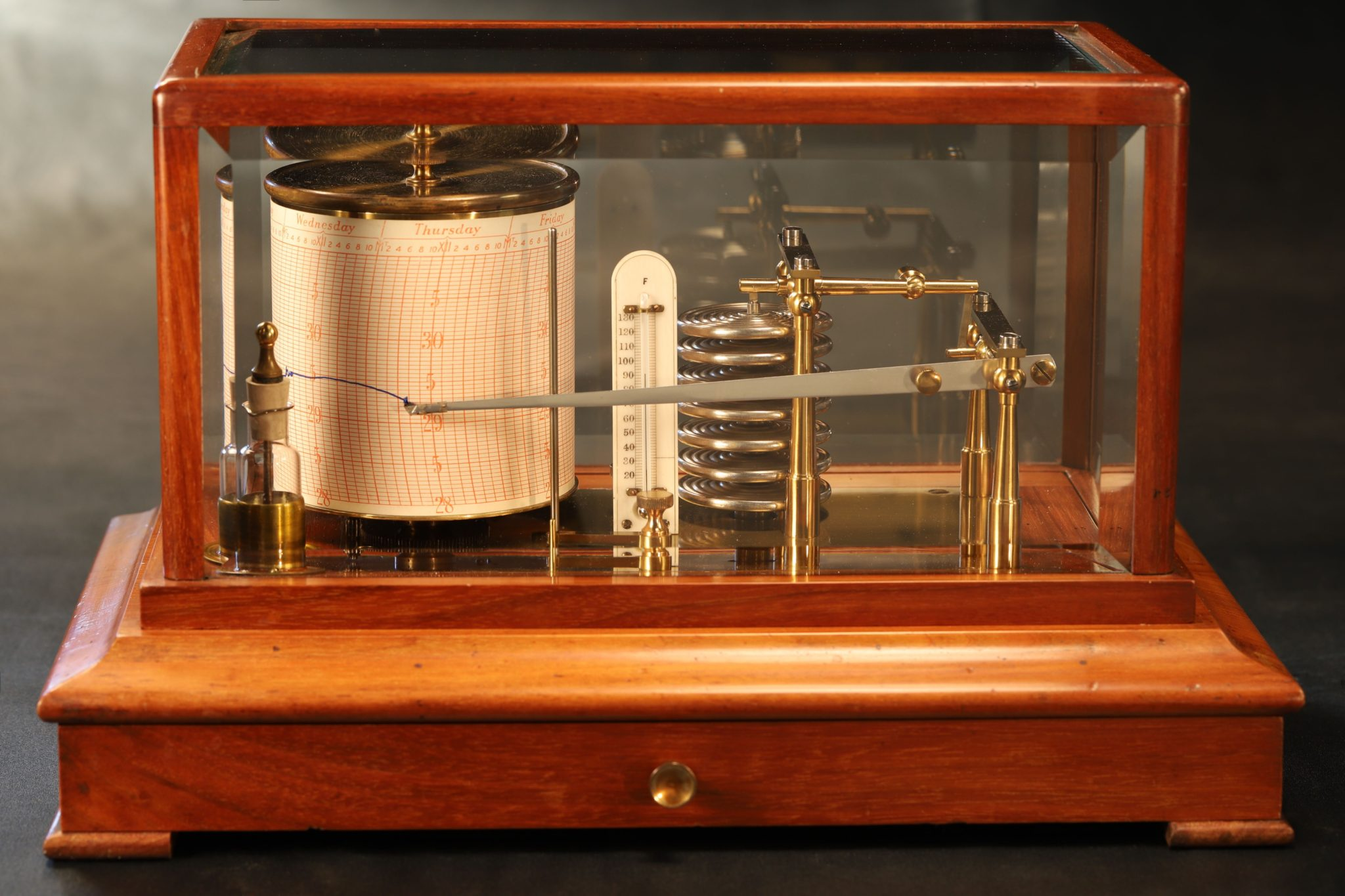 Image of Walnut Barograph c1905