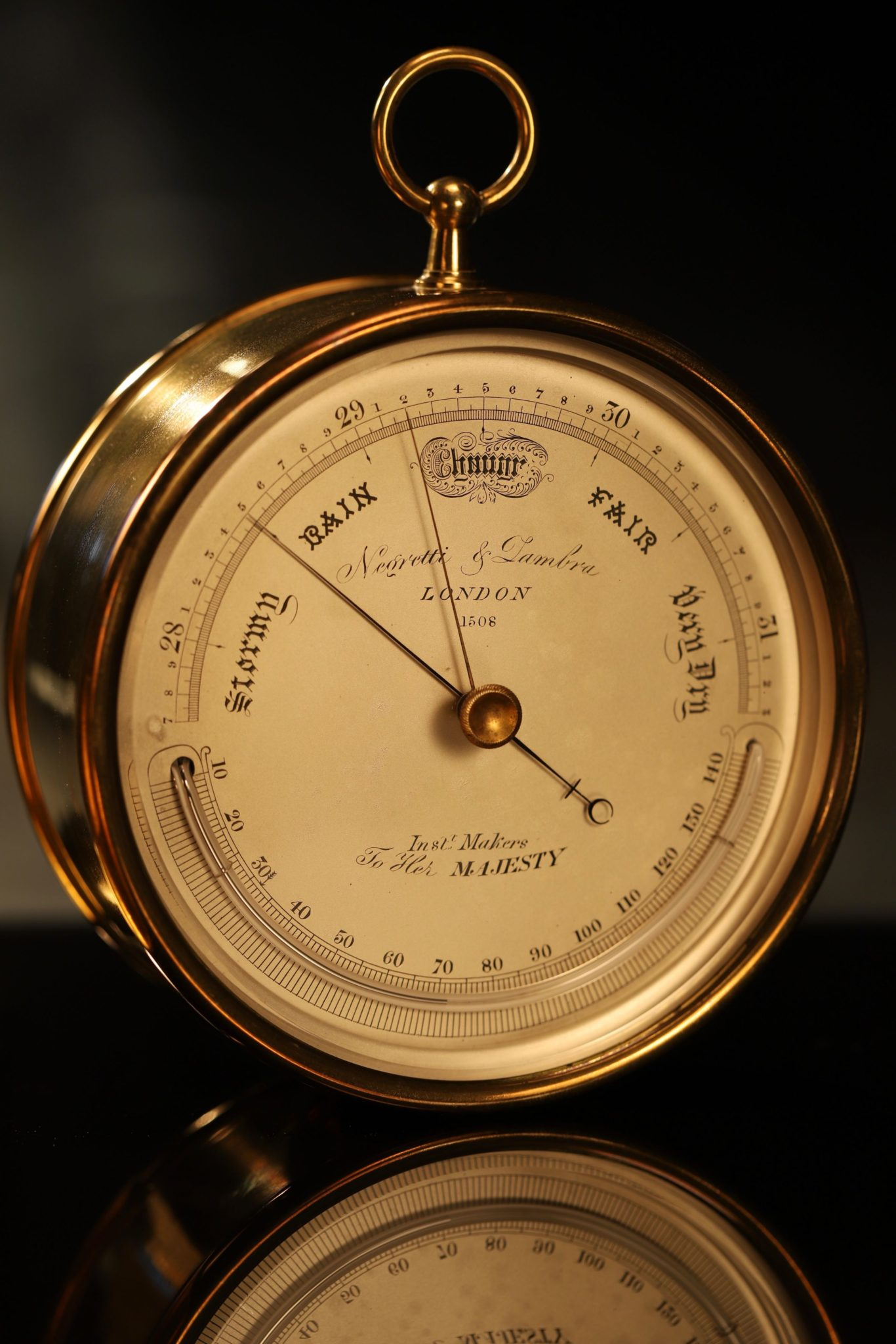 Image of Negretti & Zambra Barometer No 1508 in Oak Case