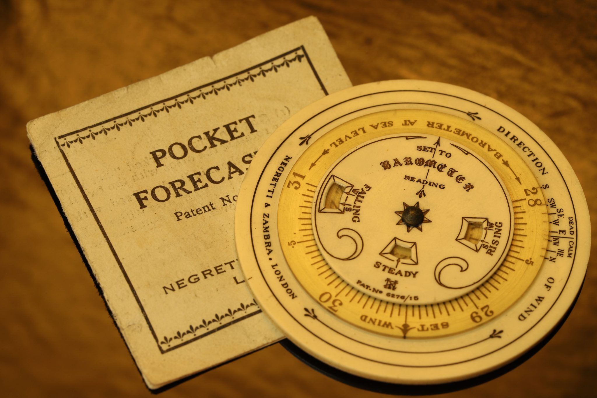 Image of Negretti & Zambra Pocket Forecaster c1925