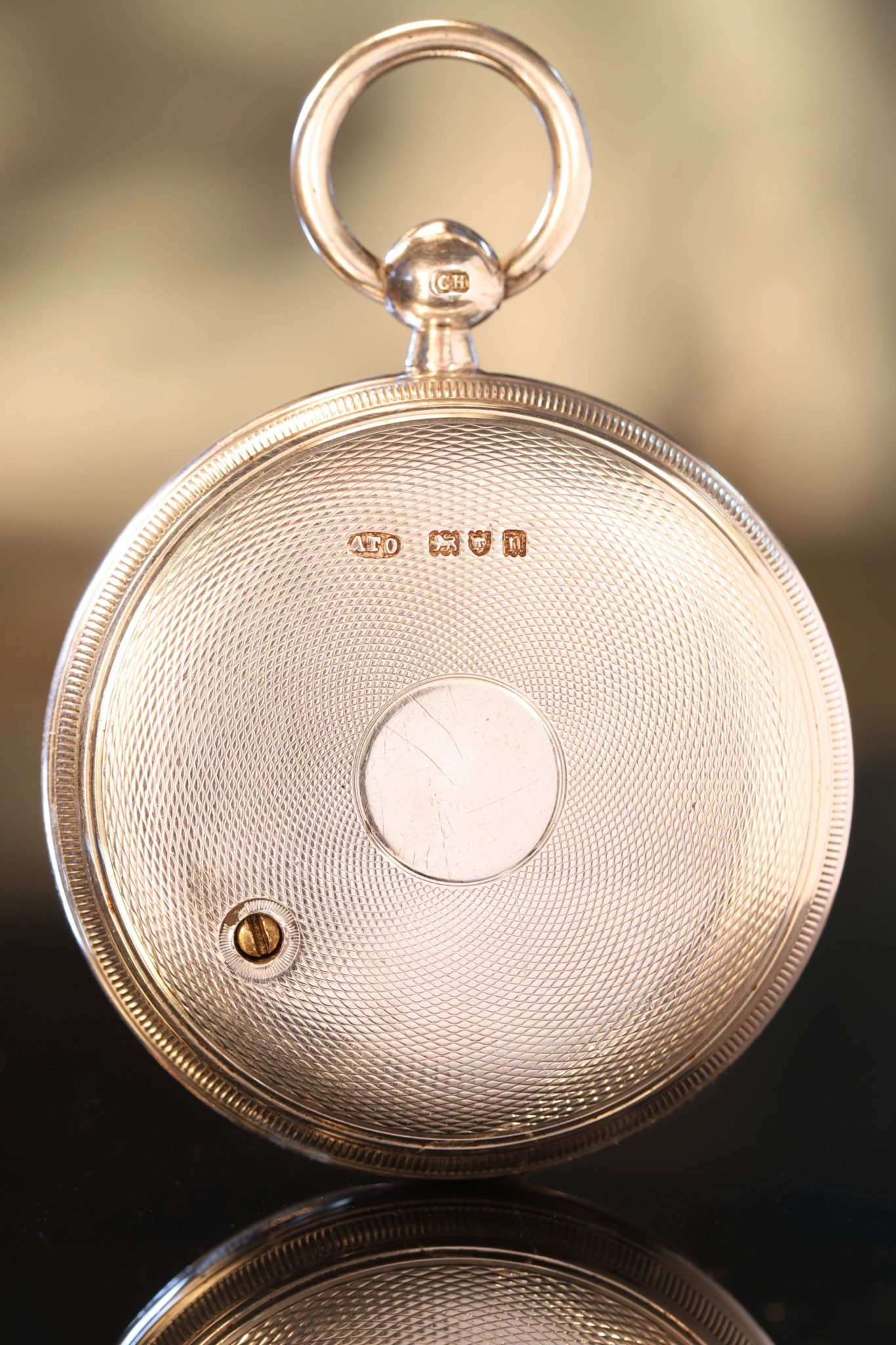 Image of Negretti & Zambra Silver Pocket Barometer with Case by Oliver c1908