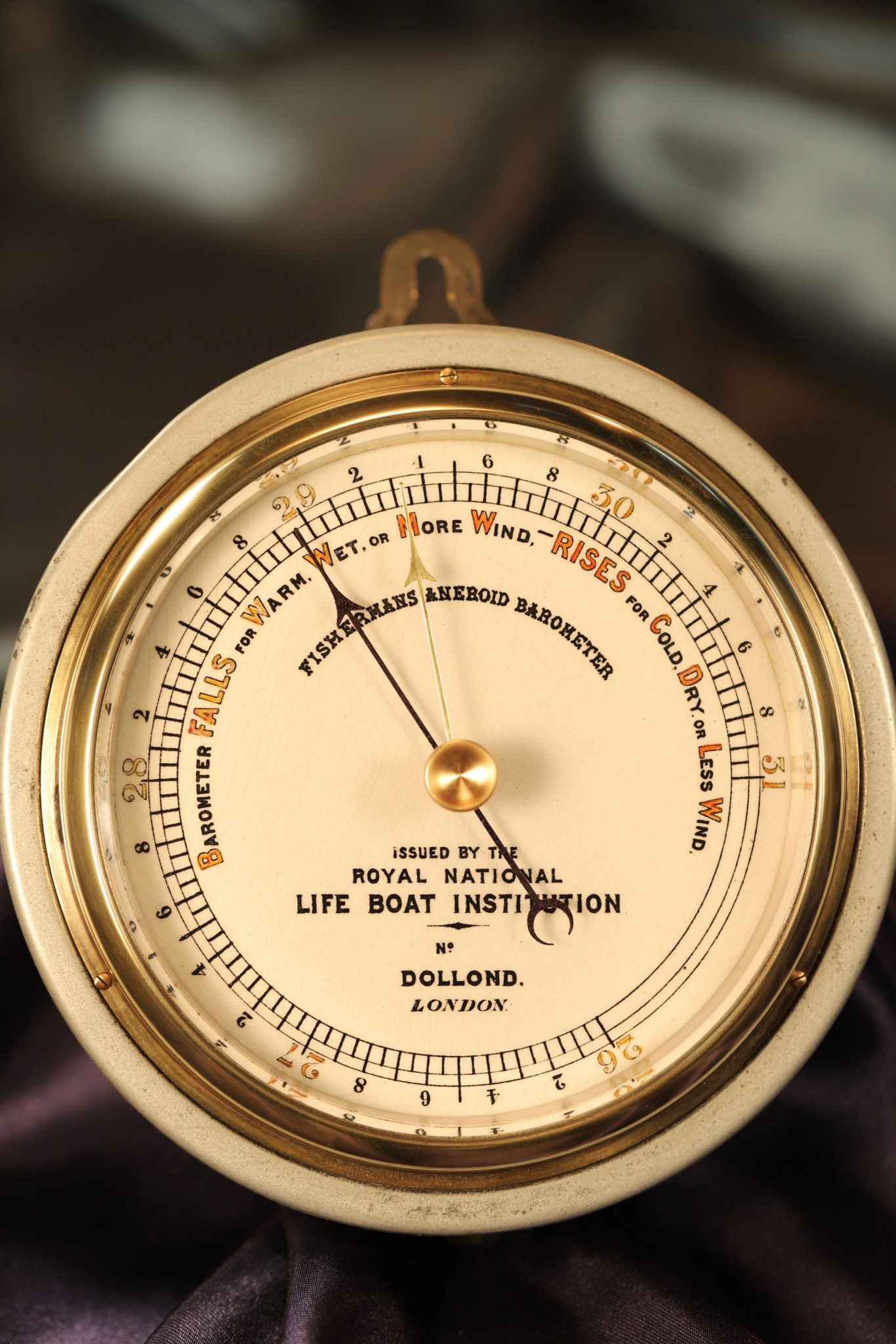 Image of RNLI Fishermans Aneroid Barometer by Dollond c1890
