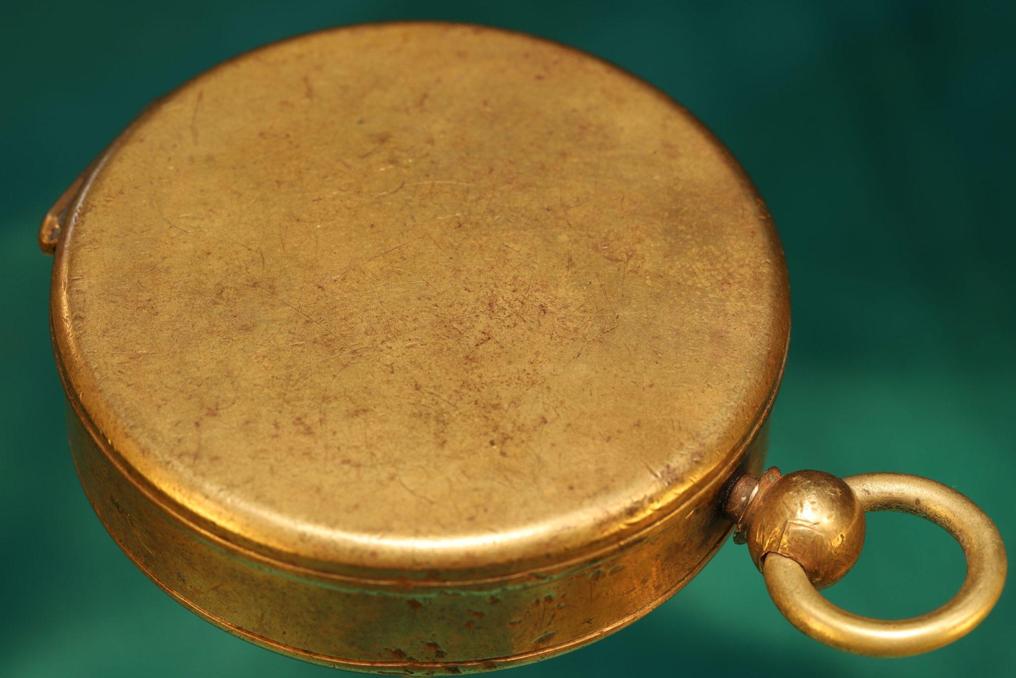 Image of Barker Singer Patent Brass Compass c1880