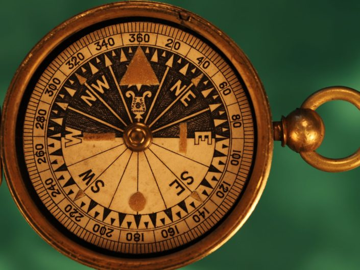 VICTORIAN SINGERS PATENT COMPASS BY FRANCIS BARKER c1880