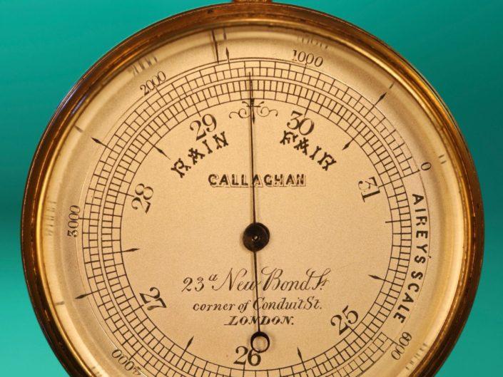 RARE MINIATURE POCKET BAROMETER BY CALLAGHAN No 4811 c1867