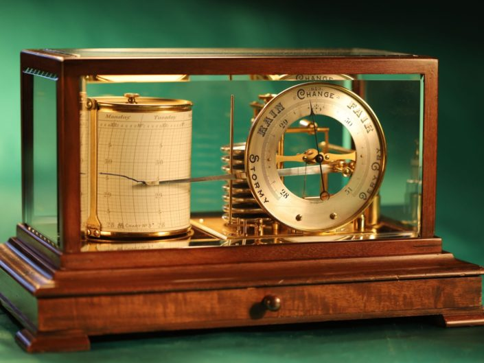 SHORT & MASON DRUM BAROGRAPH AND BAROMETER No 9204 c1920