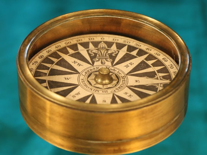 FINE EXPLORERS OR MARINERS POCKET COMPASS BY SPENCER BROWNING & CO c1845 - Sold