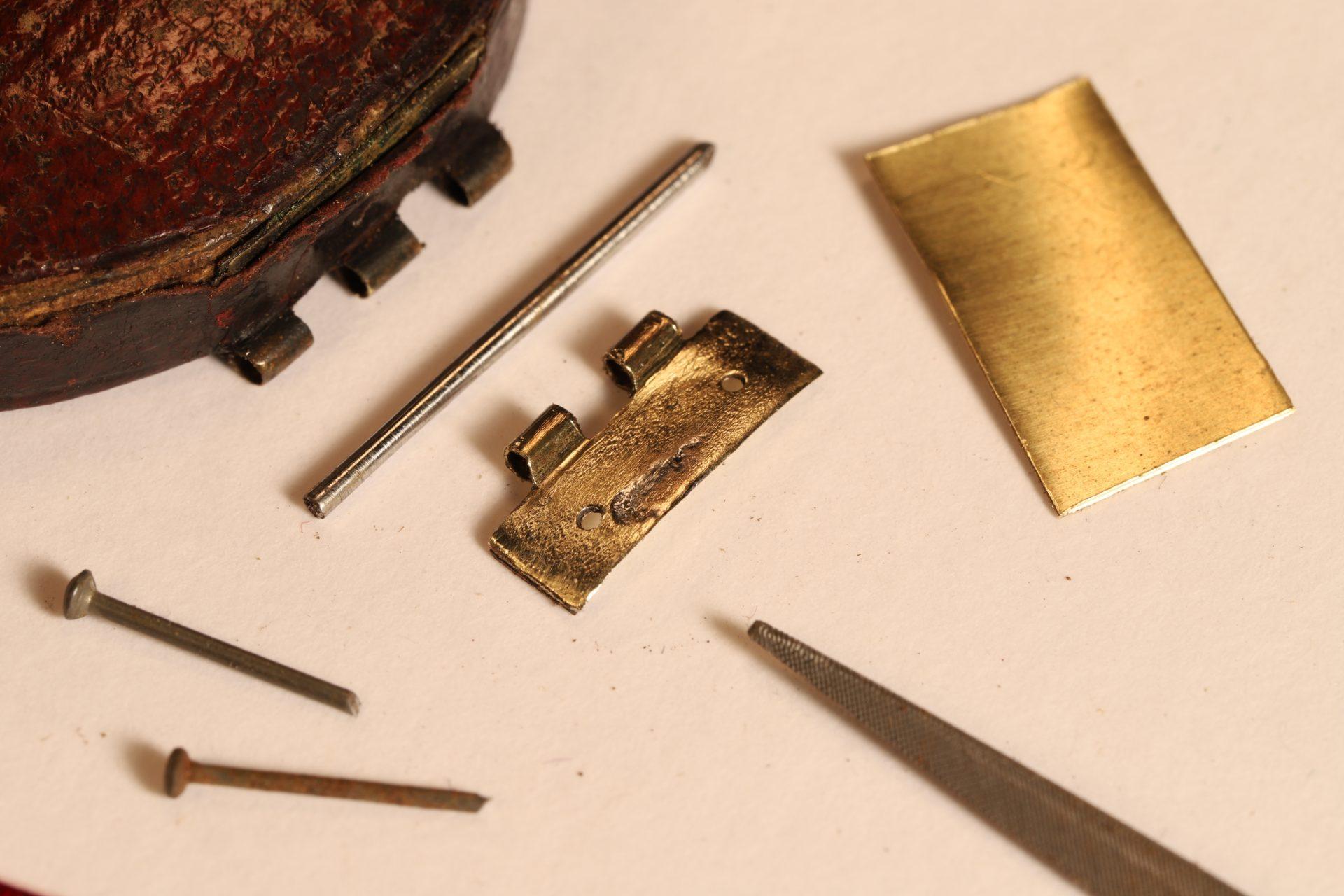 Image of a pocket barometer travel case hinge repair