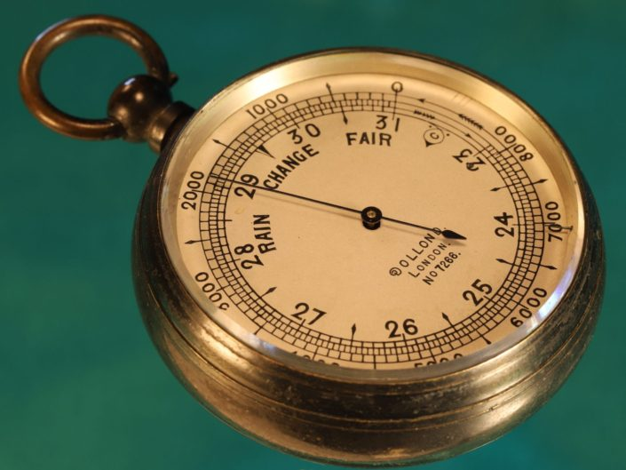 ANTIQUE POCKET BAROMETER BY DOLLOND No 7266 c1909 - Sold