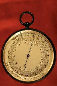 Image of dial of French Scientific Pocket Barometer Altimeter c1890