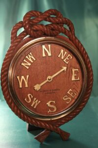 A front shot of a substantial and beautiful Negretti & Zambra wind indicator