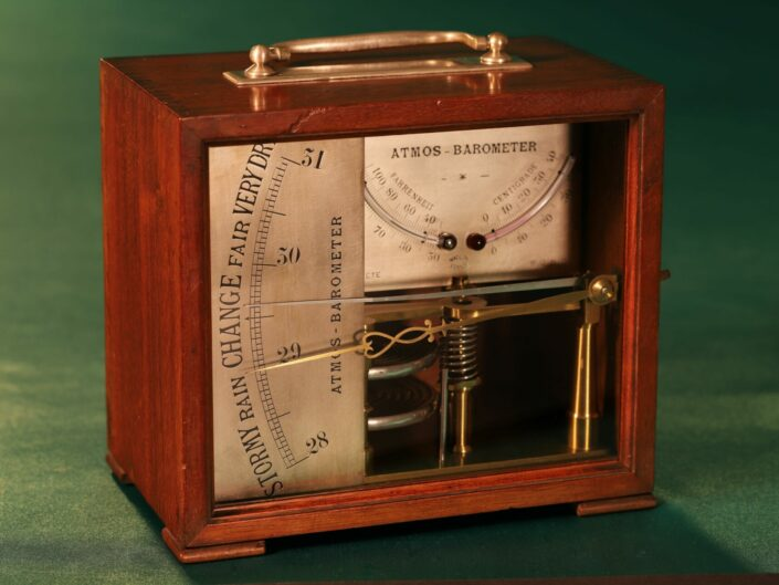FRENCH ATMOS BAROMETER MADE FOR ENGLISH MARKET c1875 - Reserved