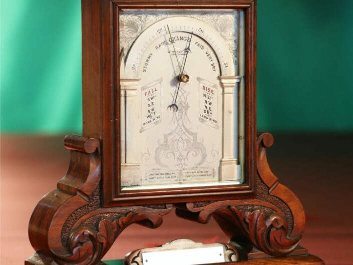 TABLE BAROMETER RETAILED BY MOODY BELL c1880 - Sold