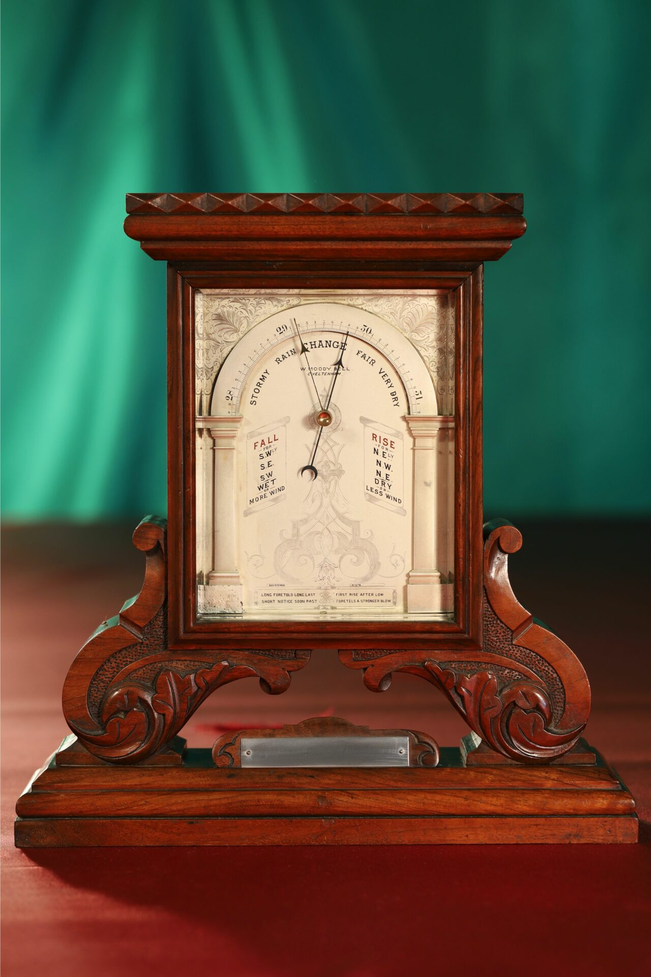 Image of Moody Bell Table Barometer c1880 taken from front