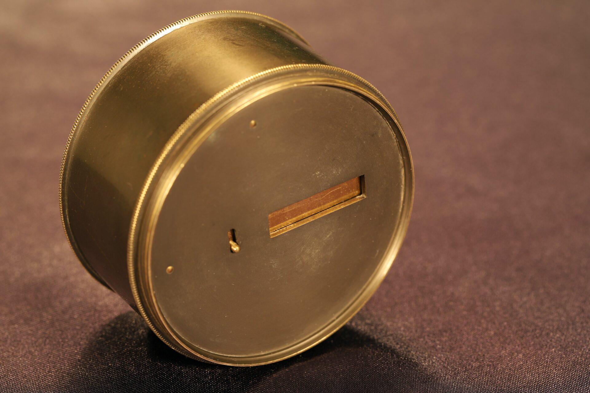 Image of bottom of Oxidised Brass Pocket Sextant c1890