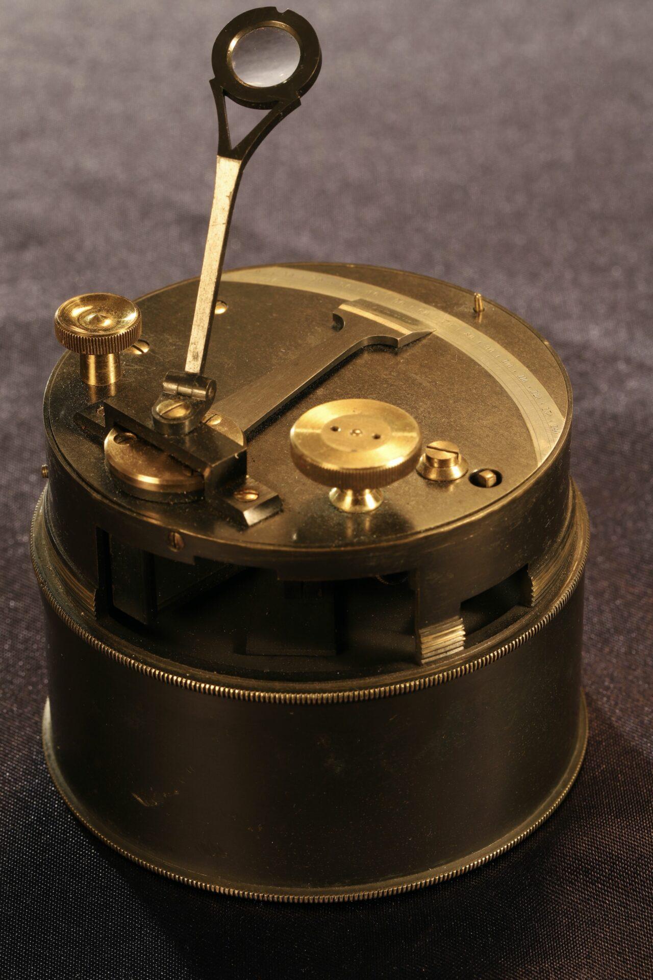 Image of Oxidised Brass Pocket Sextant c1890
