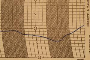 Image of test trace for Negretti & Zambra Regent Barograph No R6259 c1929