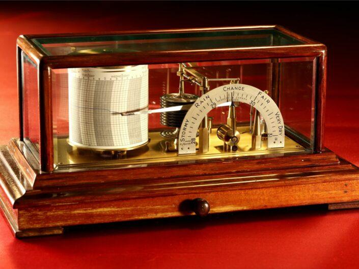 NEGRETTI & ZAMBRA REGENT BAROGRAPH WITH BAROMETER DIAL No R/6259 c1929 - Sold