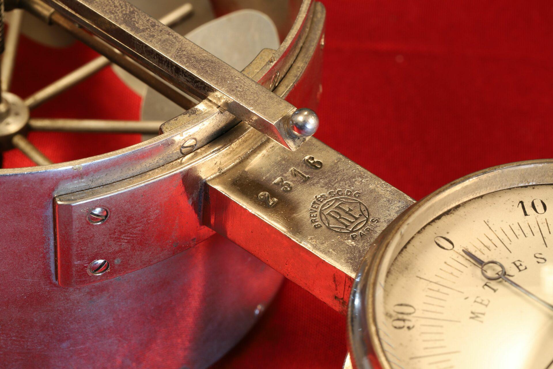 Close up of serial number of Jules Richard Anemometer No 2316 c1890