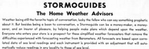 Image of text about Stormoguide Barometers from 1931 The Tycos Book