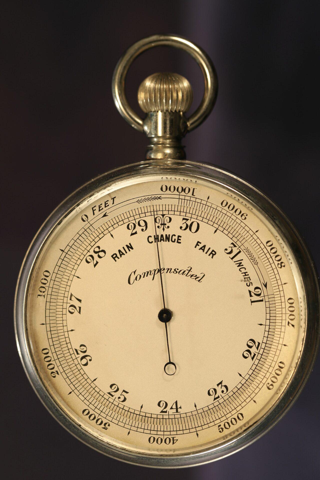 Image of dial for Short & Mason Aluminium Pocket Barometer c1901