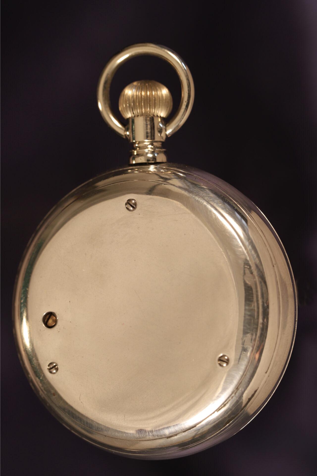 Image of back of Short & Mason Aluminium Pocket Barometer c1901