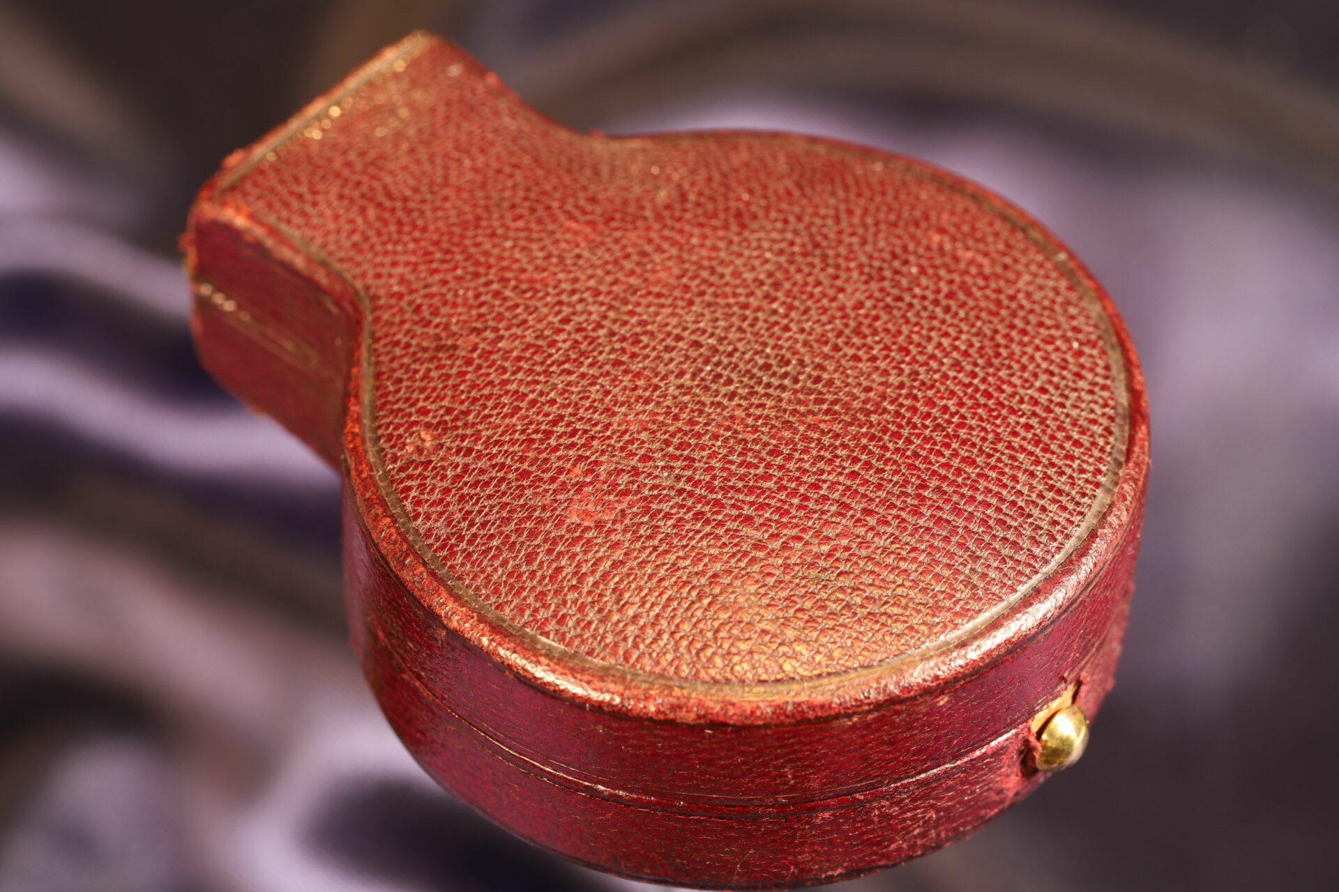 Image of travel case for Short & Mason Aluminium Pocket Barometer c1901