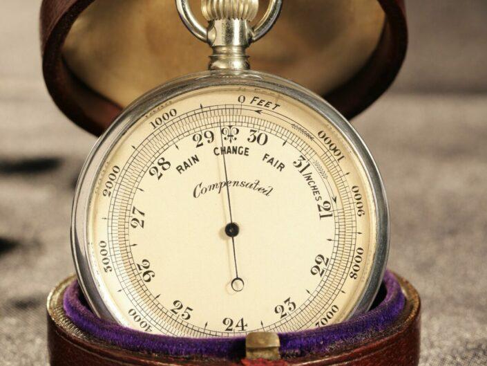 SHORT & MASON ALUMINIUM POCKET BAROMETER c1901 - Sold