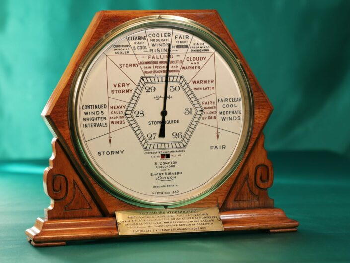 RARE LARGE  DISPLAY STORMOGUIDE BAROMETER BY SHORT & MASON No 2550 c1935