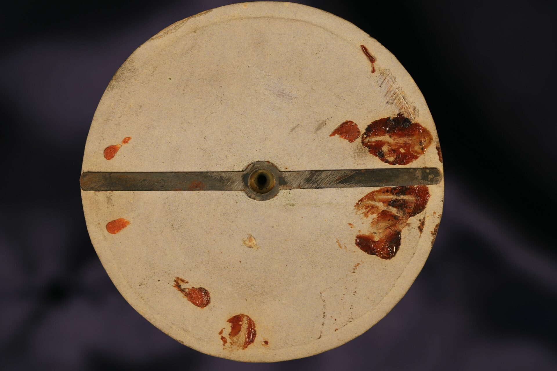 Image of underside of dial of Singers Patent Night Compass No 12588 c1865