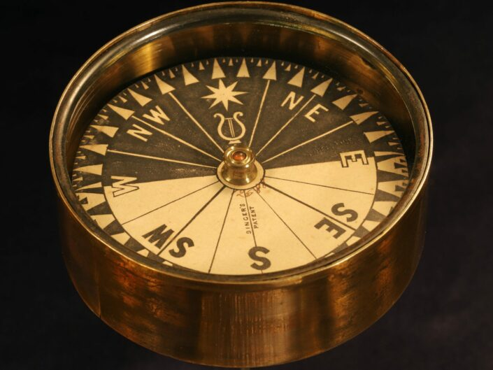 RARE SINGERS PATENT NIGHT COMPASS No 12588 - Sold