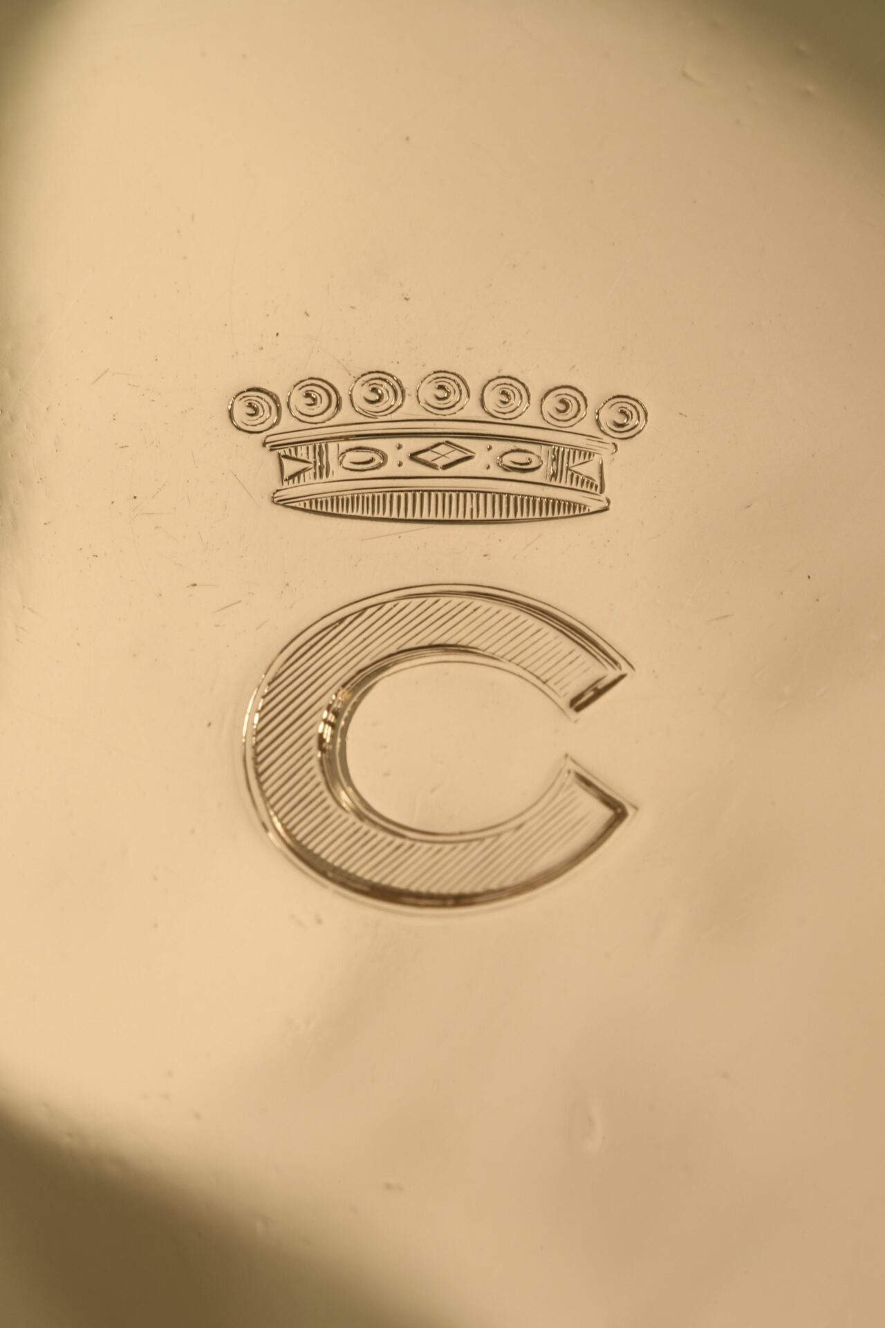 Image of Silver Pocket Barometer Compendium by Thornhill c1899 showing viscounts coronet and initial C