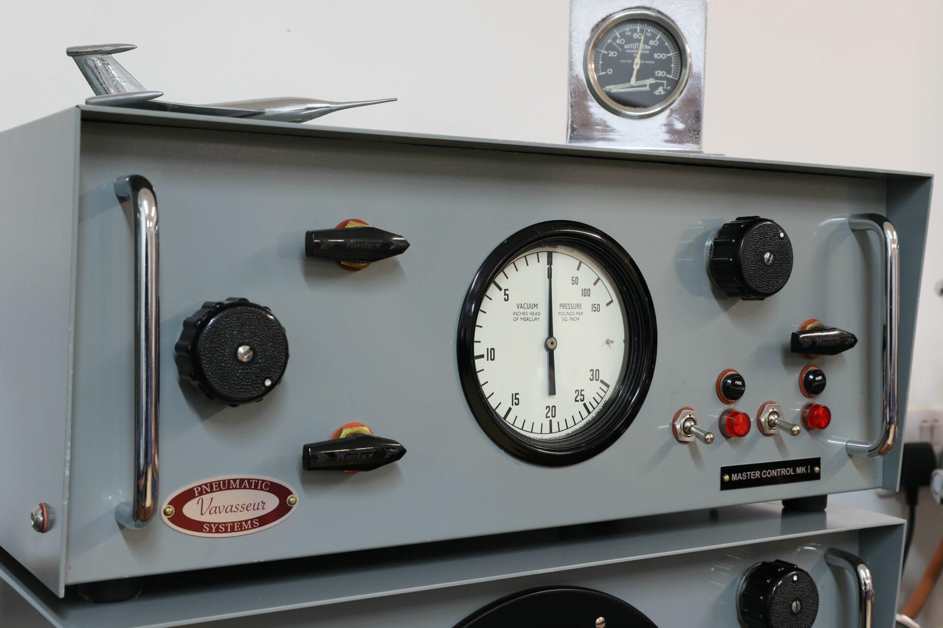 Close up of Vavasseur Laboratory Test Equipment Master Control MK I unit