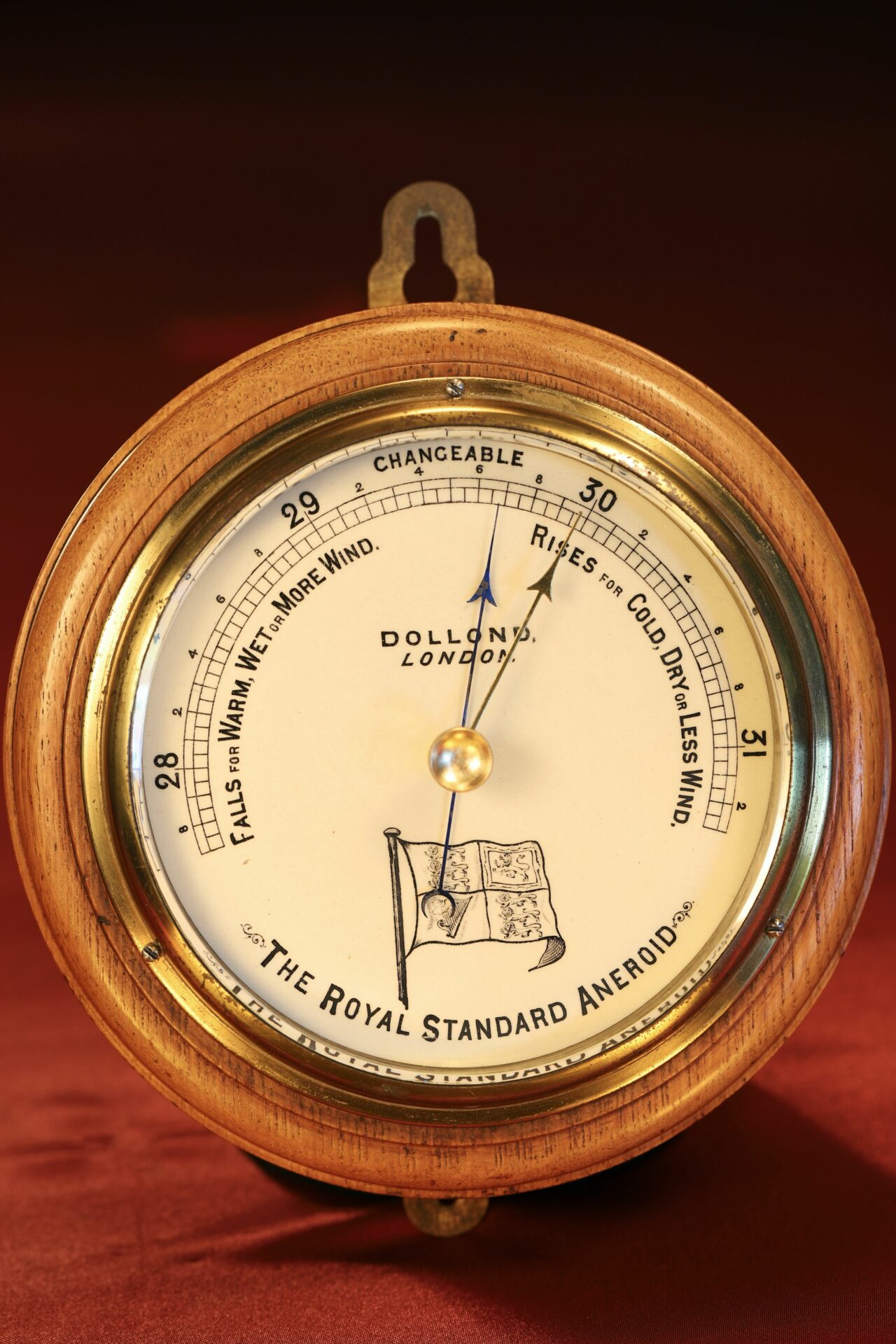 Image of Dollond Royal Standard Marine Barometer c1880 taken from front
