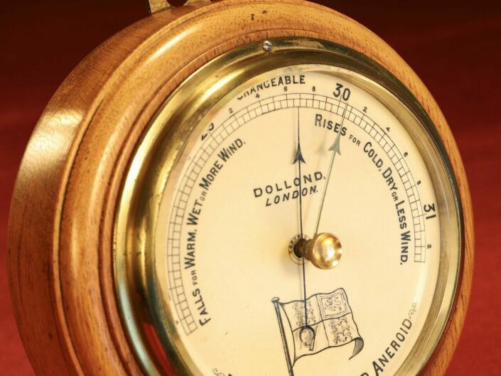 THE ROYAL STANDARD ANEROID MARINE BAROMETER BY DOLLOND c1880