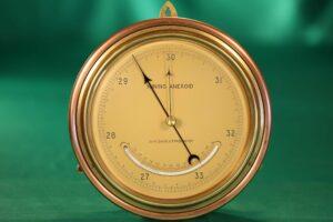 Image of front of Negretti & Zambra Mining Barometer for John Davis & Son