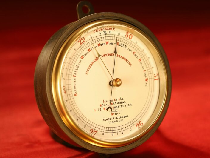RNLI FISHERMANS MARINE BAROMETER BY NEGRETTI & ZAMBRA No 1663 c1880