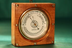 Image of front of The Life-Buoy Barometer by Dollond c1885 taken from left