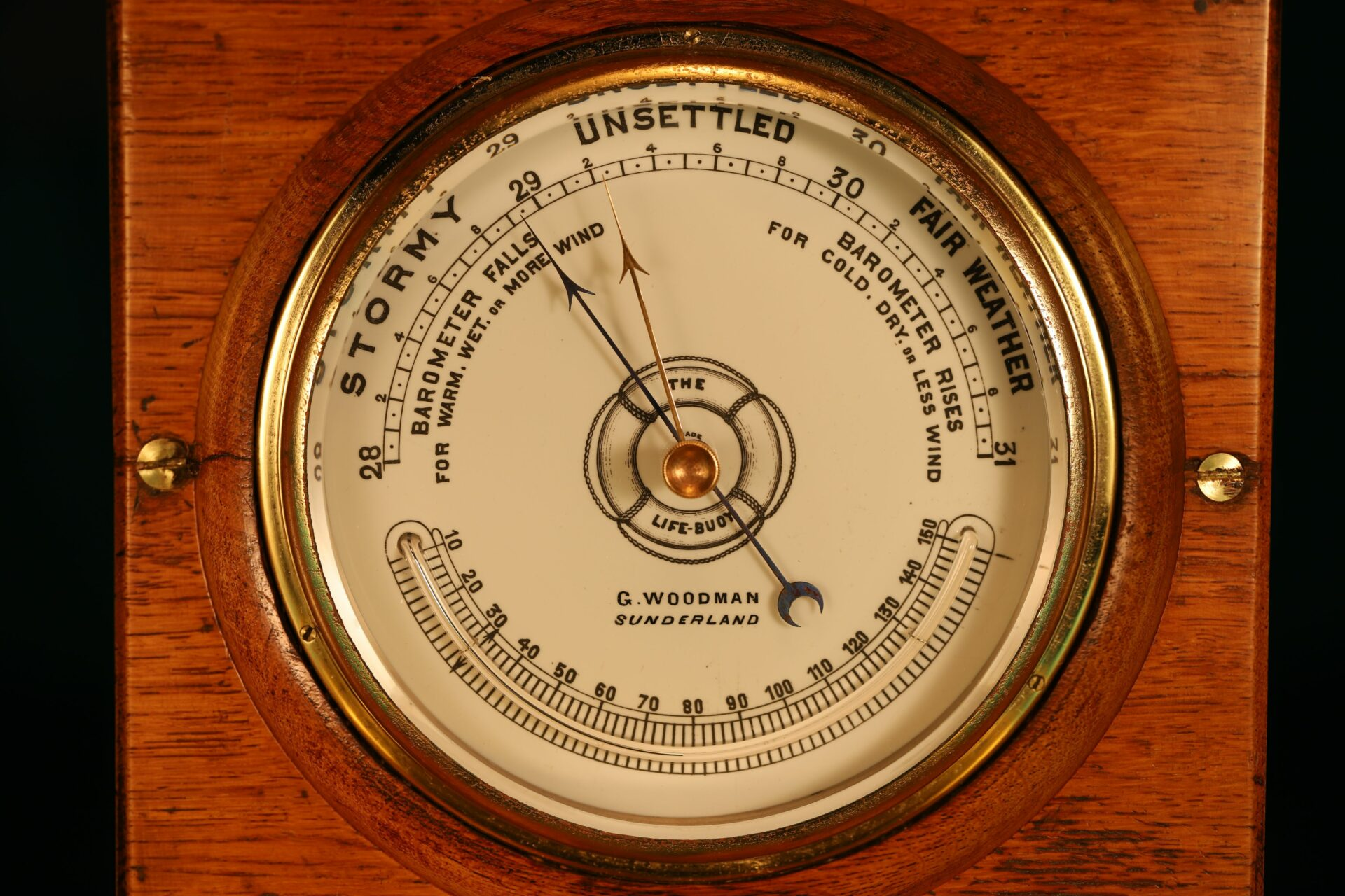 Image of The Life-Buoy Barometer by Dollond c1885 taken from front