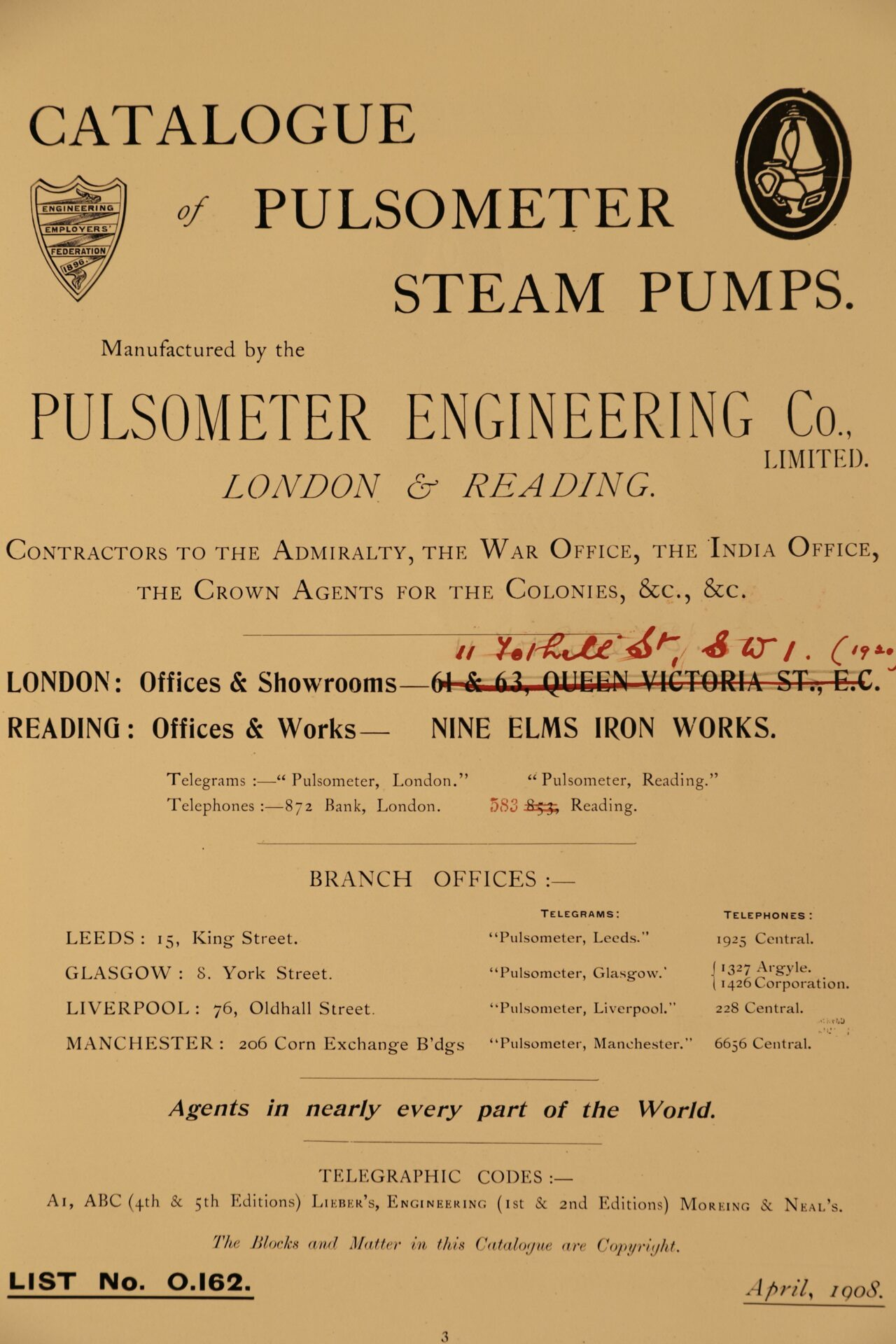 Image of page 3 from Pulsometer Steam Pumps Catalogue 1908