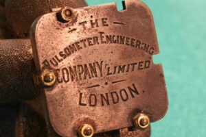 Image of name plate for Pulsometer Steam Pump Model c1905