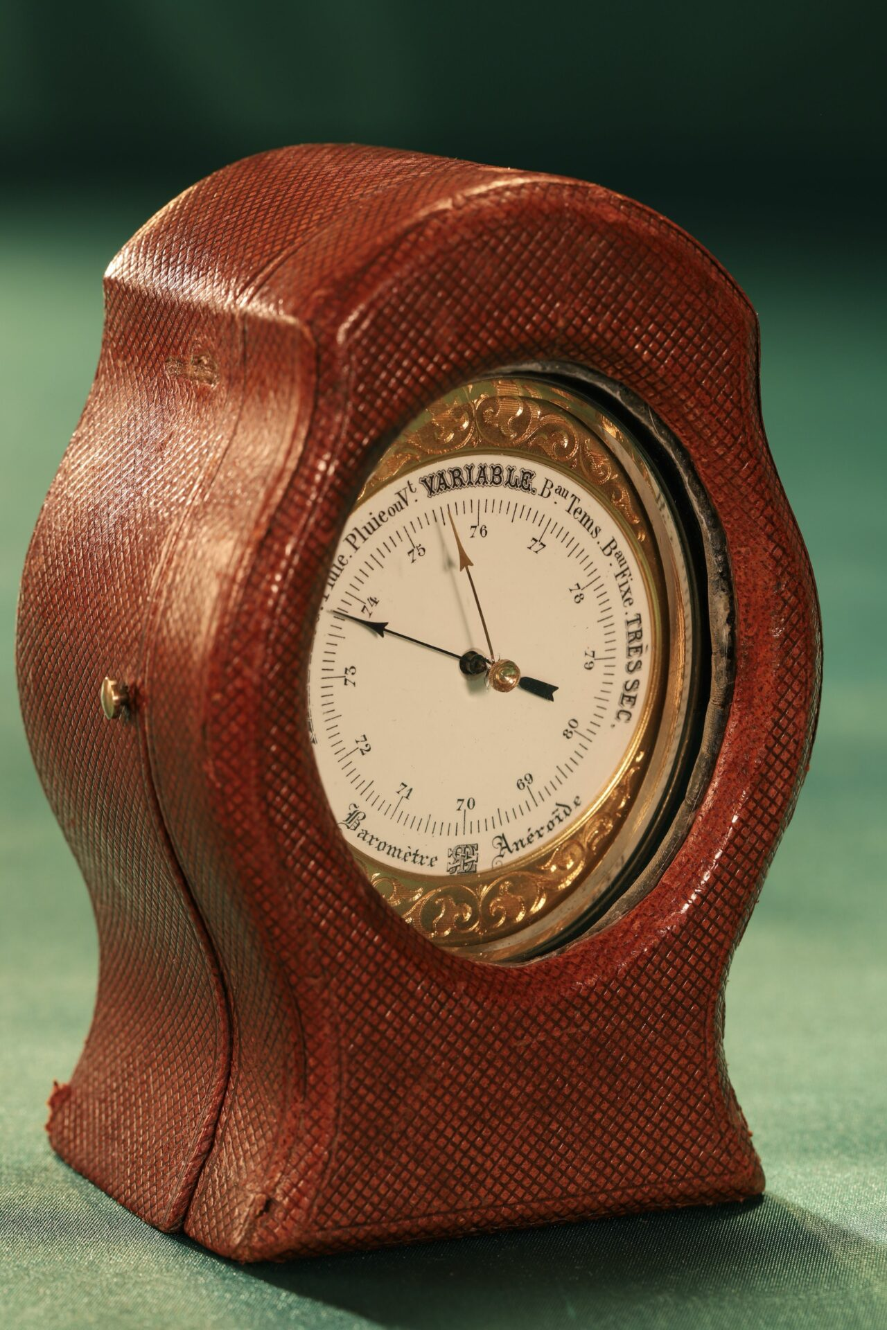 Image of Redier Travel Compendium in Original Travel Case with Barometer in View c1880